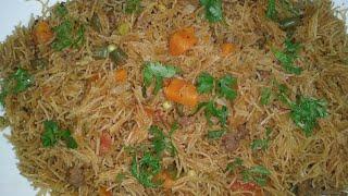 Vermicelli pulao || mix veg minced mutton saviya