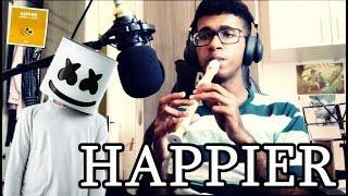 HAPPIER - Marshmello ft. Bastille - (Instrumental Flute - Recorder cover)