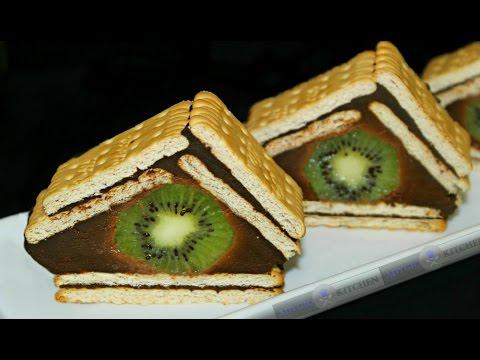 Prajitura cu biscuiti si ciocolata | Prajitura fara coacere