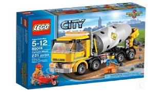 Обзор на Лего бетономешалку 60018