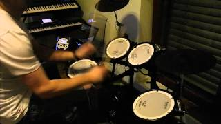 Mike Oldfield Moonlight Shadow ft. Maggie Reilly Drum Cover TD11KV