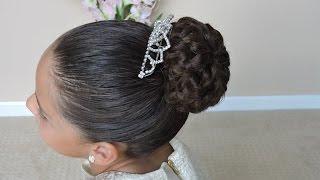 dona con trenza infinita peinado con donas bun with infinity braid