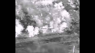 Apache Helicopter Blows Up Insurgent With IED in Backpack