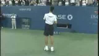 Djokovic imitates Rafa Nadal and Maria Sharapova