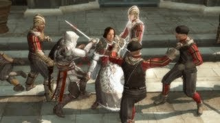 Ezio Saves Lorenzo Medici. Pazzi Kill Guiliano (Assassin's Creed 2 | Wolves in Sheep's Clothing)