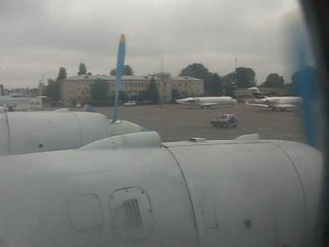 Tandem Aero IL-18 Arriving in Kiev, Ukraine