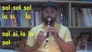 """Clarão da Lua """"Moonlight"""" Flute - Flauta Doce Iniciantes """"Recorder"""""""