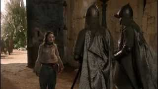Arya Stark vs. guards