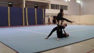 Nikita/Anna/Núria (Calheta) - Trio N3 - Camp. regional Acrobática 2016 - Desporto Escolar