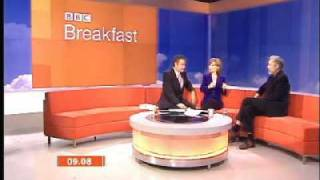 BBC Breakfast - Roger Lloyd Pack says 'shit scared'