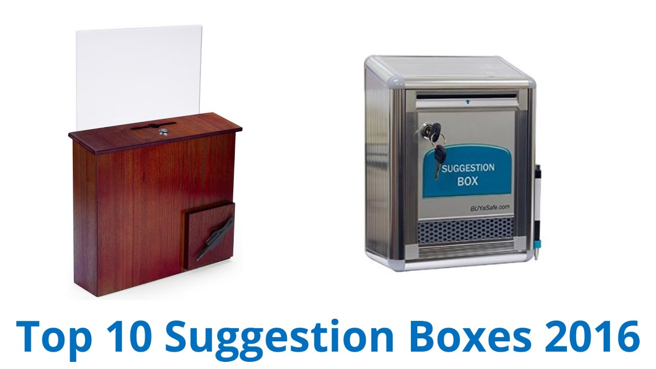 10 Best Suggestion Boxes 2016