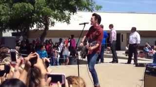 Drake Bell - I Found A Way Live at Clovis West High School