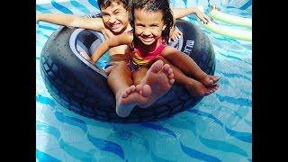 Brincando na piscina Meninos X Meninas