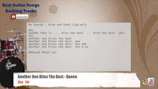 Another One Bites The Dust - Queen Drums Backing Track with scale, chords and lyrics