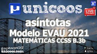Imagen en miniatura para LIVE!!! Modelo EvAU 2021 - Matemáticas CCSS 12 - Ejercicio B.3b - Asíntotas