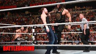 Dean Ambrose vs Roman Reigns vs Seth Rollins - WWE Title Triple Threat Match: WWE Battleground 2016
