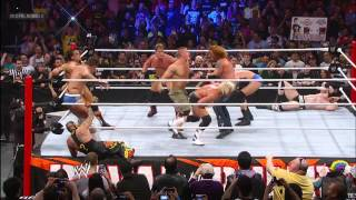 John Cena immediately makes an impact when he enters the Royal Rumble Match: Royal Rumble 2013 width=