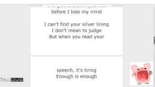 la la la lyrics naughty boy