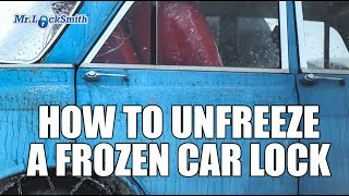 How to Unfreeze a Frozen Car Lock | Mr. Locksmith Video