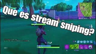 🤔¿Que es stream sniping? Y porque NO debes de hacerlo... 😱
