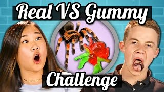 TEENS vs GUMMY FOOD vs REAL FOOD CHALLENGE!!! | Teens Vs. Food width=