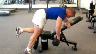 1 Arm Dumbbell Row for Back and Lat Muscle Gain