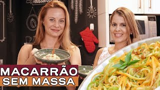 Macarrão de legumes com molho vegano! o que o Chef come em Casa| Receita| Comida| Fit