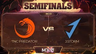 TNC Predator vs J.Storm Game 1 - MDL Chengdu Major: Semifinals