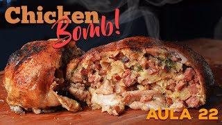 Aula 22 - Chicken Bomb (Frango Desossado Recheado) / Cansei de ser Chef