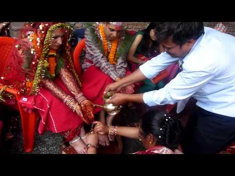 Feet washing ceremony (Sanjeeta & Keshav)
