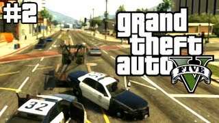 Towing the Police in Grand Theft Auto 5 (GTA 5 Live Stream #2)