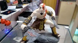 Kratos escultura feita em biscuit