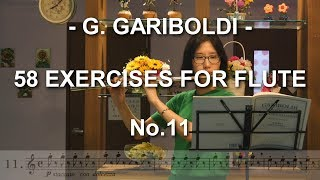 GARIBOLDI 가리볼디 58 EXERCISES No.11 - WANG Sung Ja 왕성자 - Flute Etude 플룻 에뛰드 (기초 연습곡) -  도란도란 부산 레슨
