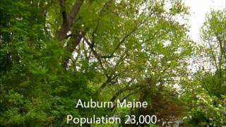 Sights and sounds in the big city of Auburn Maine