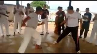 Grupo Arte no jogo Capoeira - Monito Gogó de ouro e Formado Minhoca