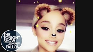 """Jimmy Announces Ariana Grande Appearance with """"No Tears Left to Cry"""" Fan Video"""