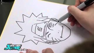 Masashi Kishimoto drowing Naruto