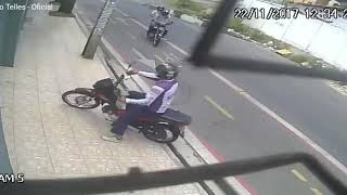 Roubo de moto polícia a paisana chega na hora
