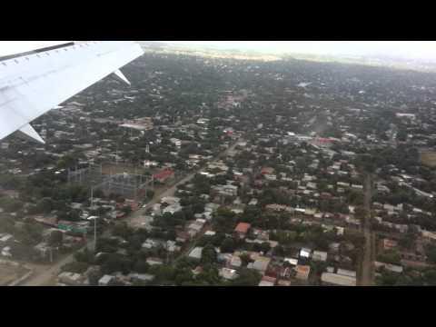 Landing in Managua Nicaragua