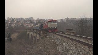 Přetah parní lokomotivy 434.2186 z Prahy Vršovic do Lužné u Rakovníka pomocí T478.1008