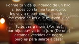 """Ñejo - De negro ft. Jamby """"El Favo"""" (Letra)"""