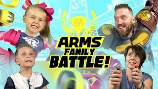 Let's Play ARMS!!! Nintendo Switch Games Family Battle with KIDCITY
