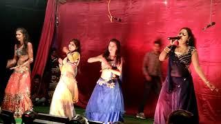 Bihari  hot randi nach programme bhojpuri stage show width=