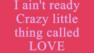 Queen Crazy Little Thing Called Love Lyrics