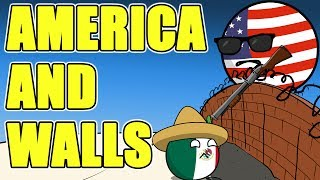 America is obsessed with walls - Countryballs