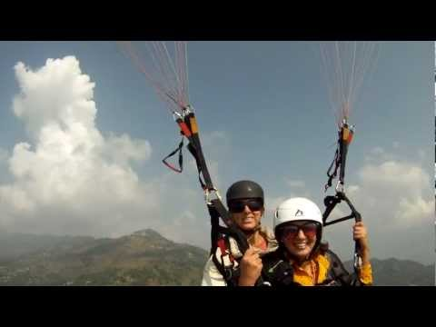 My first paragliding in Nepal