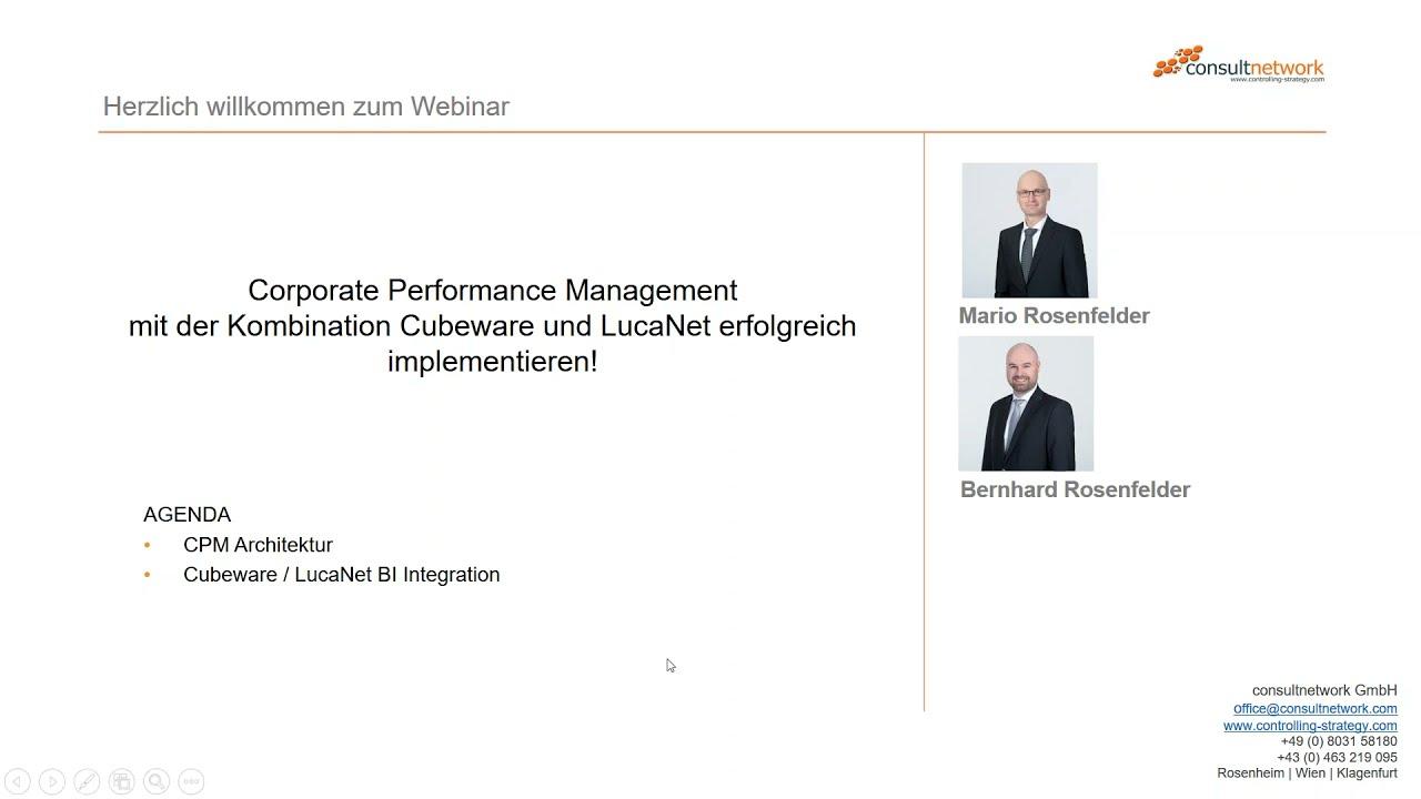 Corporate Performance Management mit Cubeware & LucaNet
