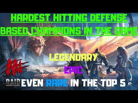 Hardest Hitting Defense Based Champions I Raid Shadow Legends