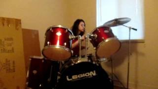 """""""Ella Uso Mi Cabeza Como Un Revolver"""" - Drum Cover (clip)"""