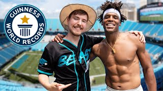 Breaking World Records with Mr Beast | Cam Newton Vlogs